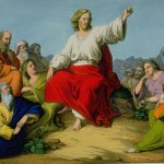 Jesus preaching the Sermon on the Mount