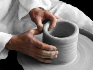 Teacup made from clay