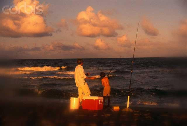 Boy-and-Father-along-the-ocean-shore