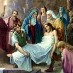 Jesus is laid in the Sepulchre