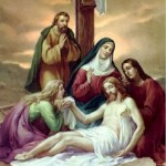 Jesus is taken down from the Cross in the arms of His Mother