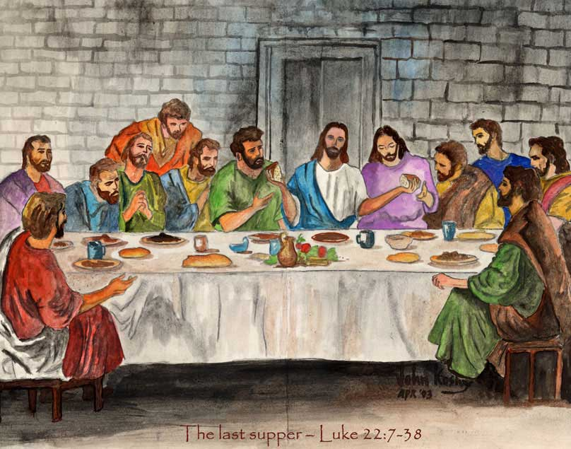 Pics Of The Last Supper Jesus And Disciples