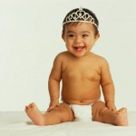 Baby Girl Wearing Tiara