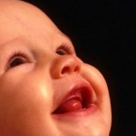 Face of a Smiling Infant