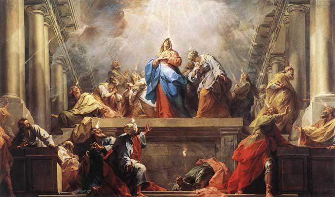 Pentecost - Holy Spirit Descent on disciples
