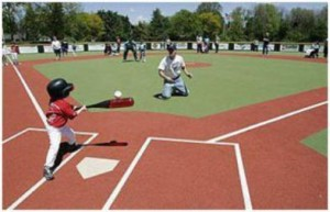 Disabled playing Baseball