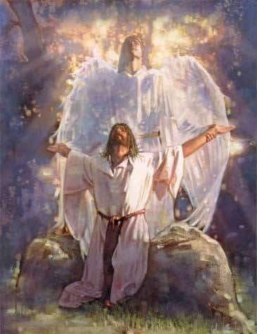 Jesus in garden of gethsemane