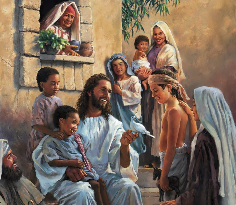 Jesus Christ Wallpaper Set 23 Jesus With Children