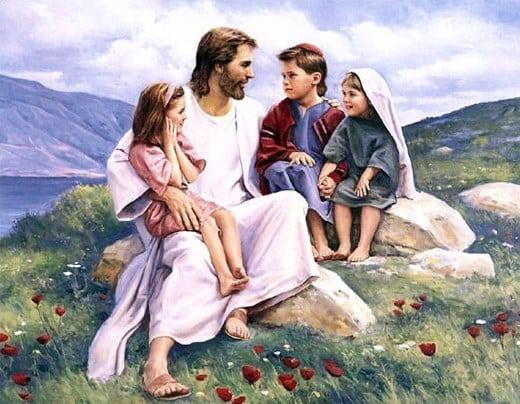 Jesus Christ Wallpaper set 23 - Jesus with children