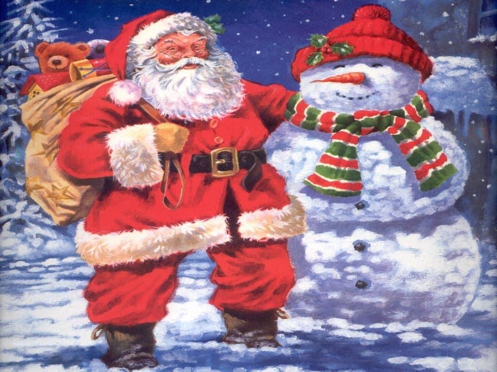 Santa claus wallpapers set