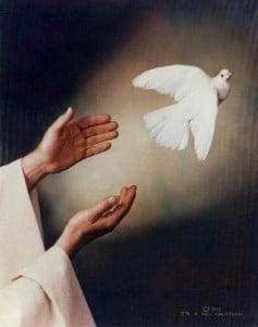 Jesus promising Holy Spirit