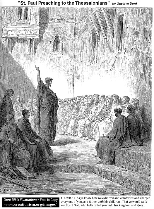St Paul Preaching To The Thessalonians