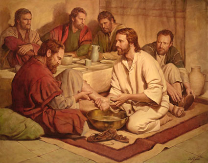 Image result for Jesus washing disciples feet