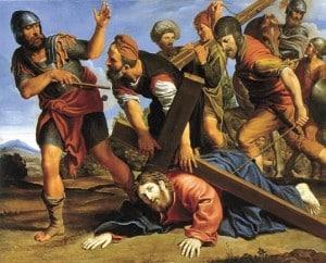 Jesus on way to Calvary