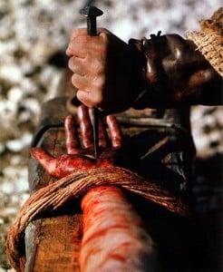 Crucifix Jesus hands Nailed
