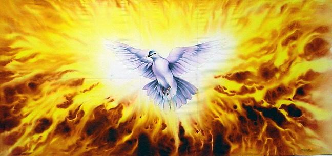 Holy Spirit Dove Fire