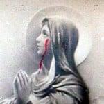 Mother Mary Bleeding