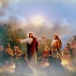 Jesus on Mountain