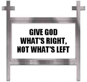 Give God Whats Right