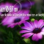 Psalm 18:27 Wallpaper