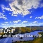 Psalm 23:2 Wallpaper