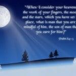 Psalm 8:4-5 Wallpaper