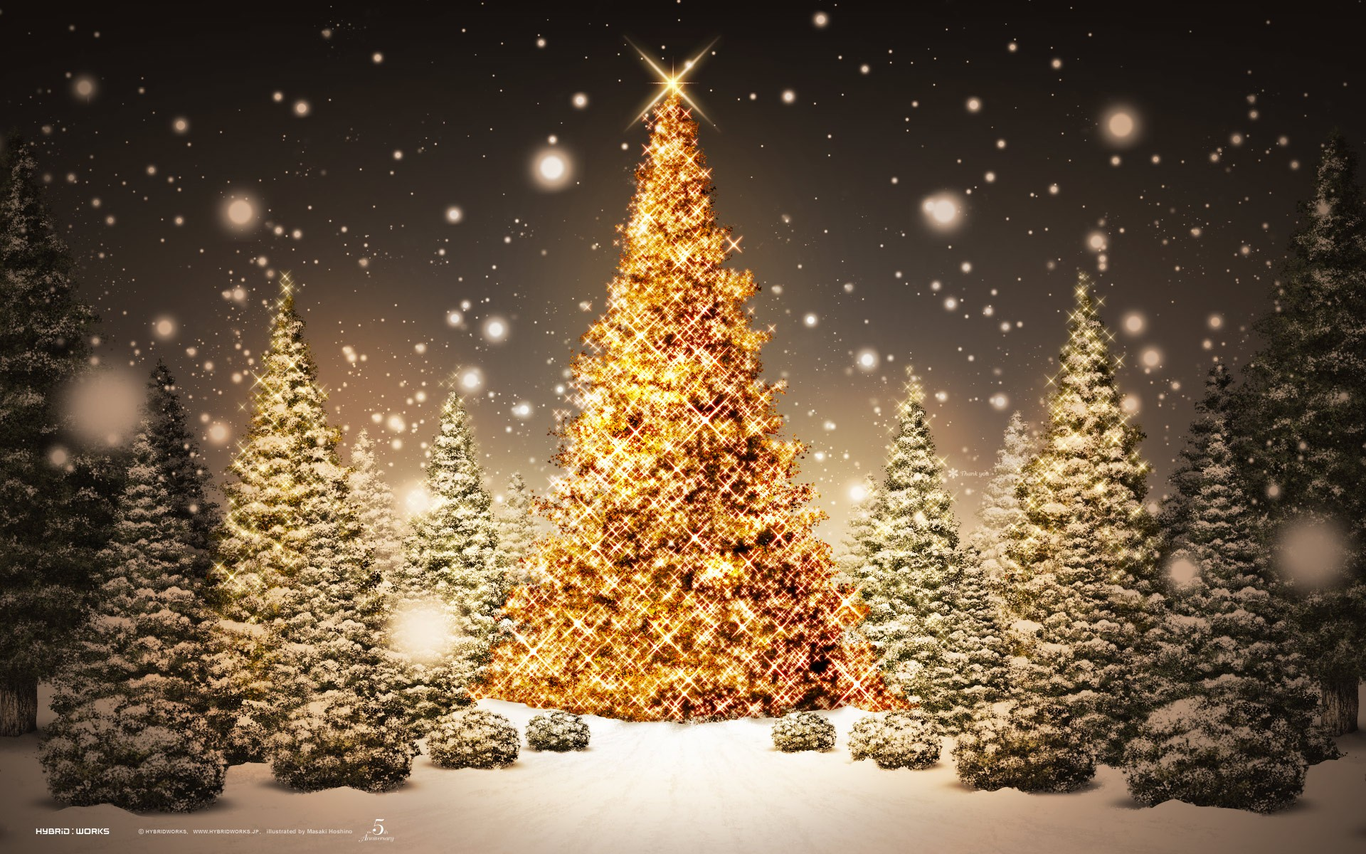 gold christmas tree wallpaper -#main