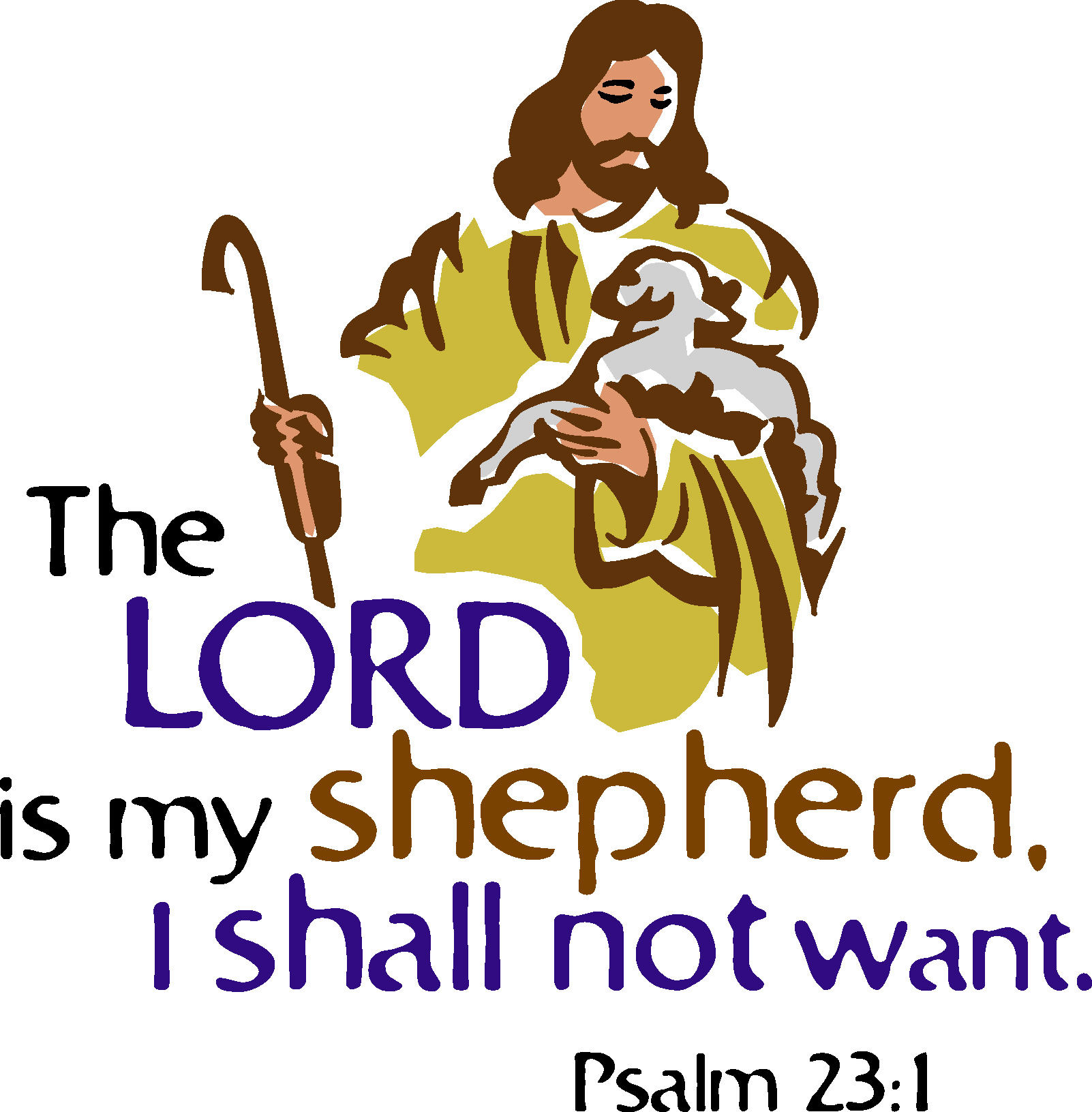 The Lord Is My Shepherd Clip Art