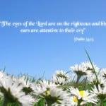 Psalm 34:15 Wallpaper