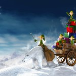 Christmas Cartoon Wallpaper 16