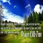 Psalm 138:7 Wallpaper