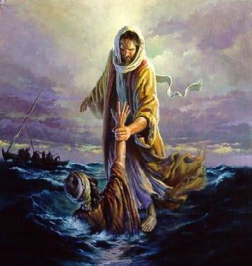 Jesus Walks On Water Wallpaper Jesus Walking On Water