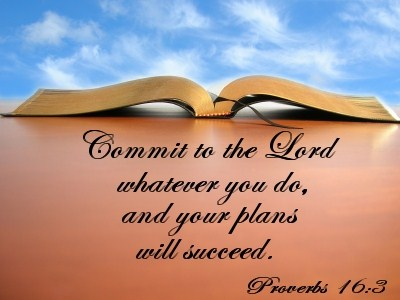 Commit Your Plans To The Lord