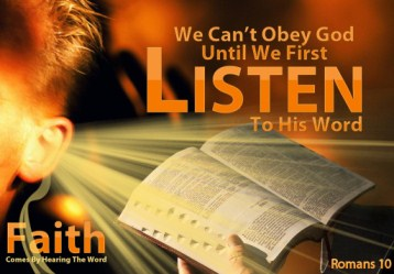 We cannot listen to god since our minds are too noisy