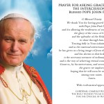 Blessed John Paul II prayer card