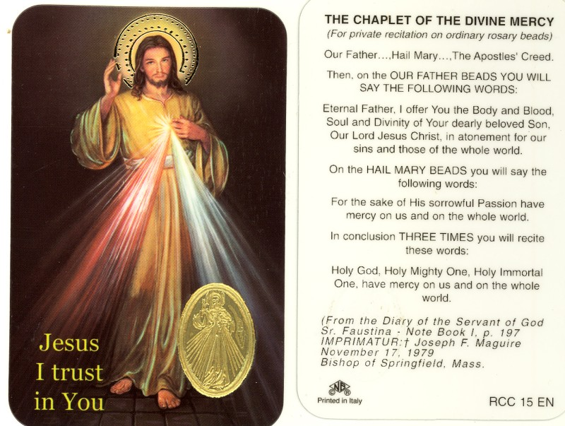 Inventive image with regard to divine mercy chaplet printable