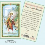 Prayer to St Christopher