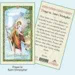 Prayer to St Christopher