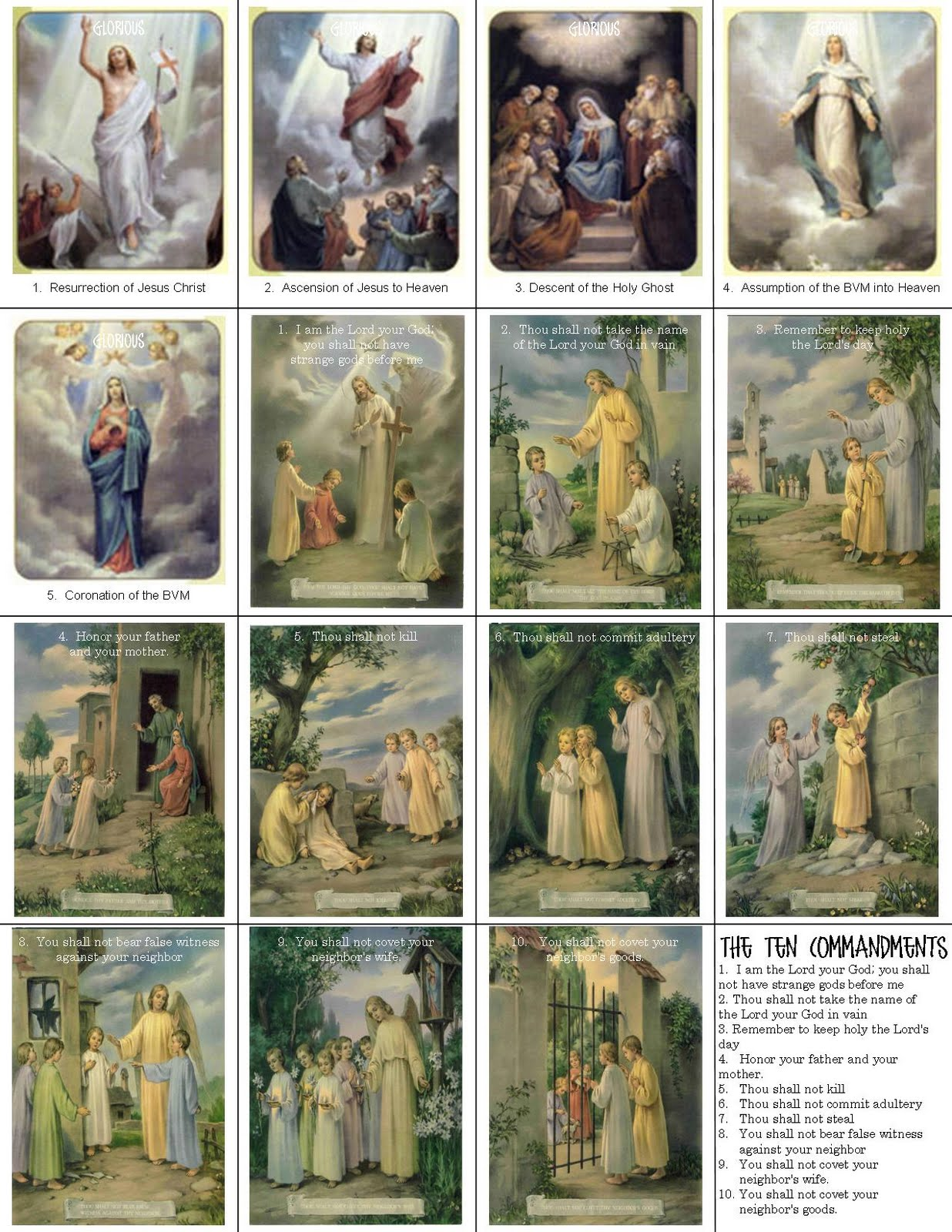 Comprehensive image inside printable catholic prayer cards