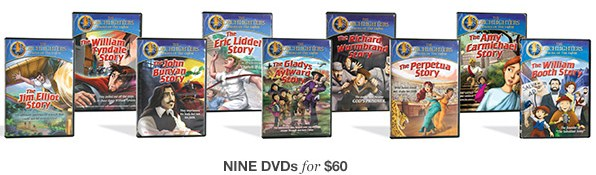 Stories of Christian Heroes - 9 DVD Set