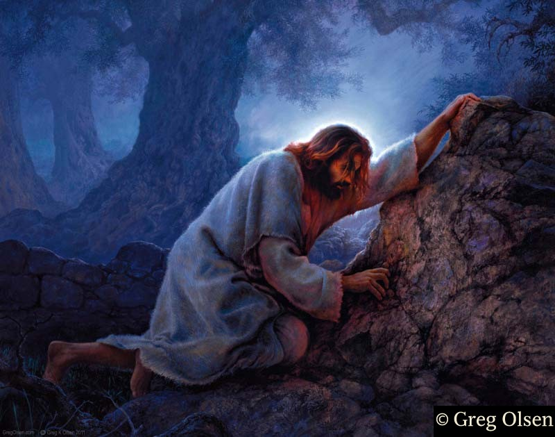 Greg Olsen Paintings Jesus Praying In The Garden Of Gethsemane Painting