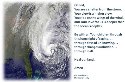 Prayer For Hurricane Sandy's Victims
