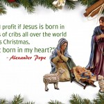 If Jesus is not born in heart