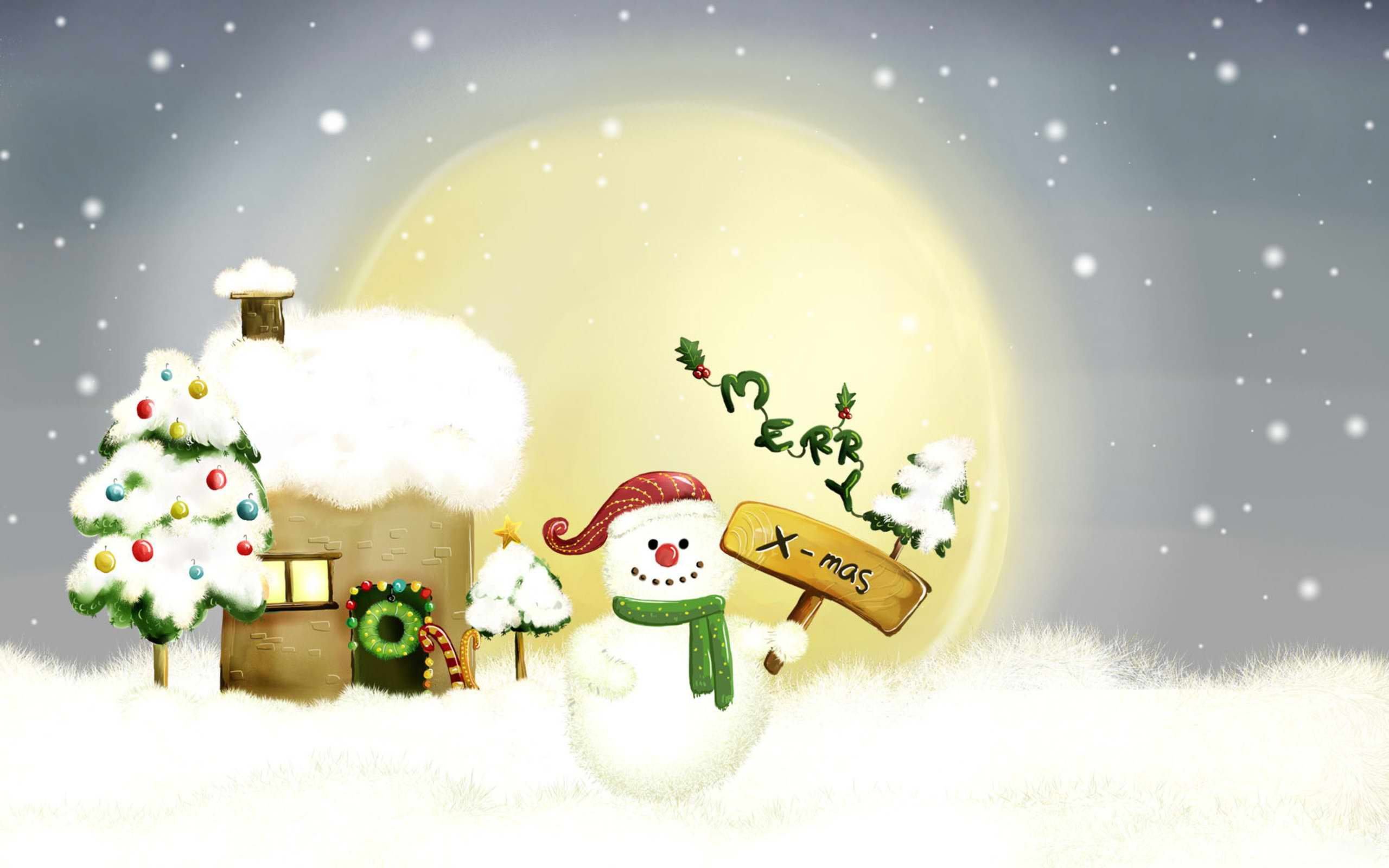 merry christmas wallpaper winter - photo #17