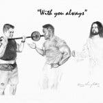 Jesus with Bodybuilder
