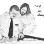 Jesus with Draftsman