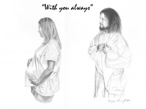 Jesus with Expectant