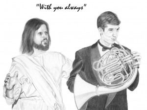 Jesus with French Horn Player
