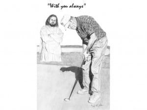 Jesus with Golfer