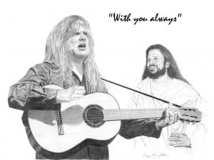 Jesus with Guitarist